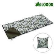 [로고스] 카모플라쥬 패턴 쿠션형 침낭 10