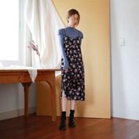 Velvet sleeveless flower one-piece