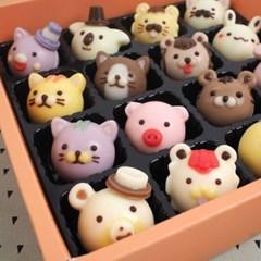 동물얼굴 초콜릿만들기세트  빼빼로데이 DIY 막대과자