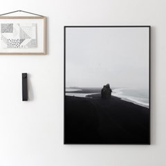[Coco Lapine Design] Black Beach Poster (50x70 포스터)