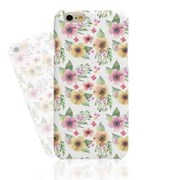 Watercolor Pink Yellow Flower (HF-023A) Hard Case