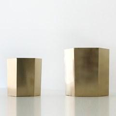 골드 화분 - 육각형 타입(대17.5x20)