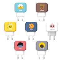 카카오프렌즈 가정용 충전기 USB 2포트 2.4A
