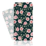 Green BG Watercolor Pink Flower (HF-030A)  Hard case