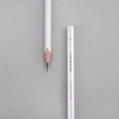 [주문제작]네임연필2B 6자루화이트 레인보우