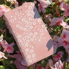 달라라삼 리얼벚꽃 플립케이스-갤럭시 아이폰