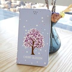 달라라삼 벚꽃나무 플립케이스-갤럭시 아이폰