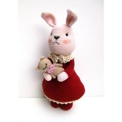 [손뜨개 DIY]손뜨개인형-우리는친구(토끼+아기곰)