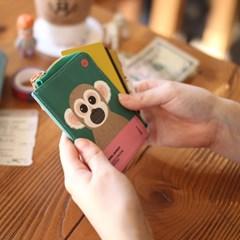 다람쥐원숭이 멸종위기동물 카드월렛