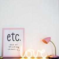 love neon light-yellow