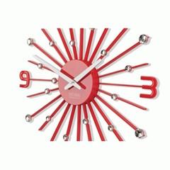 정방 모던 크리스탈 벽시계 (P400 RED)