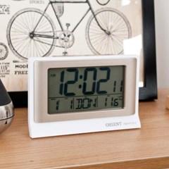 골드 디지털 온도 탁상시계