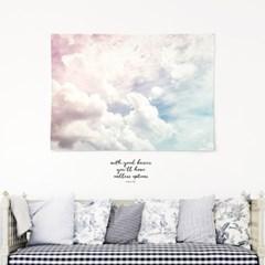 패브릭 천 포스터 F020 아이방 인테리어 구름