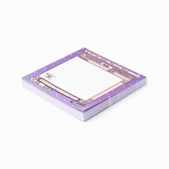 (10x10) M.P.R memo pad_violet