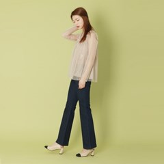 Frill See-through Blouse