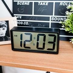 심플한 블랙 벽 탁상 겸용 시계