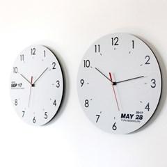 무소음 이니셜 벽시계 선물하시계 화이트