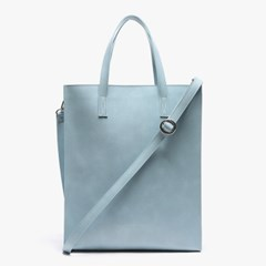 LEATHER SQUARE SHOULDER&TOTE (SOFT BLUE)