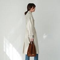 Boxy double trench coat