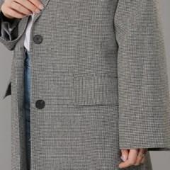 하운드 체크 롱 트렌치 Coat