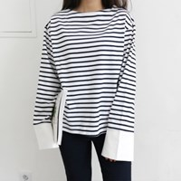 Cuffs stripe tee