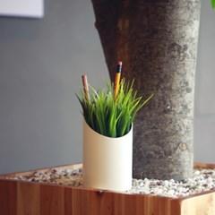 잔디 펜홀더-책상위에 봄 인테리어 연필꽂이
