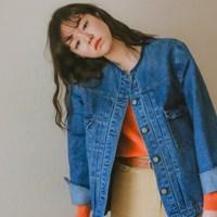 [유라고]핀턱 데님자켓