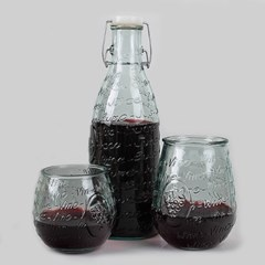 San Miugel Juice Bottle (디켄터) 1L + Vino 2P