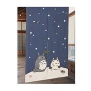 이웃집 토토로 일본풍 커트 노렌(눈사람)-cos053