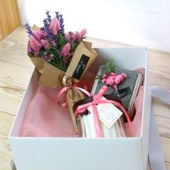 [조화꽃박스] 플로리 캔들세트