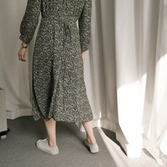 타이니 플라워 롱 드레스(2-COLORS)