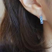 블루 토파즈 레인 귀걸이(11월탄생석)blue topaz rain earring