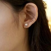 circle clutch pearl earring
