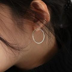 big circle stud earring