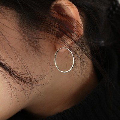 big circle stud earring