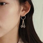 crystal bar drop earring