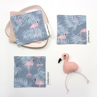 [haku.haru] flamingo coaster