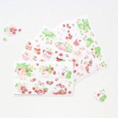 마넷 컷팅스티커 sampler - 딸기&토끼