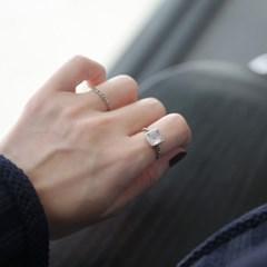 스퀘어스톤 Ring (silver925)