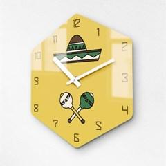 리플렉스 멕시칸 옐로우 무소음벽시계 MAC12YE