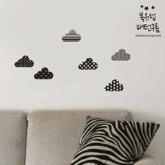 북유럽 데코스티커_패턴구름