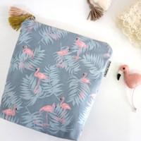 [haku.haru] flamingo travel pouch