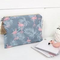 [haku.haru] flamingo pouch
