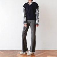 Pin-tuck high slacks