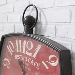 [ATELIER] HH 철제 레드타원벽시계