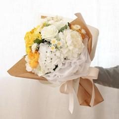 로즈 옐로우 수국꽃다발_(471330)