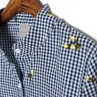 레몬글라스 자수 셔츠