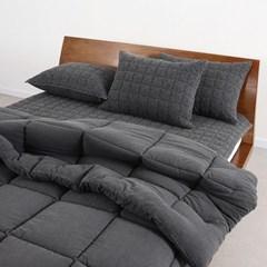 모노톤(차콜)-피그먼트 베개커버-50x70
