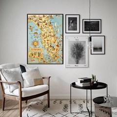 세계지도액자 벽걸이 거실 아이방 북유럽 포스터 플로리다