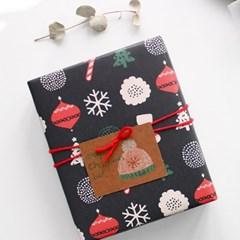 해피 크리스마스 포장지(3개)